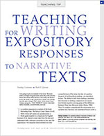 Writing Expository Responses to Narrative Texts
