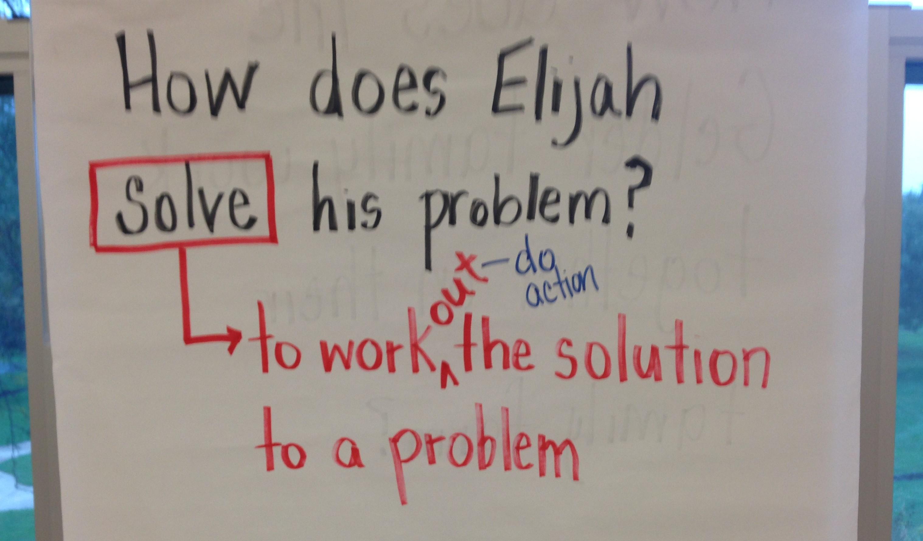 close reading question Elijah