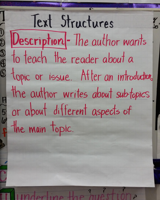 descriptive text structure