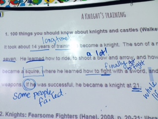 modeled annotations knights